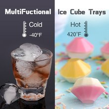 Diamond Shape 3D Ice Cube Mold Maker Bar Party Silicone Tray Chocolate Mold Candy Mould Whiskey Wine Ice Cream Tool Kitchen Tool