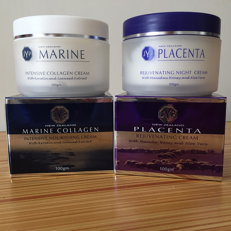 100% NewZealand Marine Collagen Nourishin Day Cream+Sheep Placenta Night Face Cream Sets Rejuvenation Cream Easy absorbing cream go to bed blue