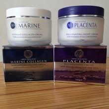 100% NewZealand Marine Collagen Nourishin Day Cream+Sheep Placenta Night Face Cream Sets Rejuvenation Cream Easy absorbing cream