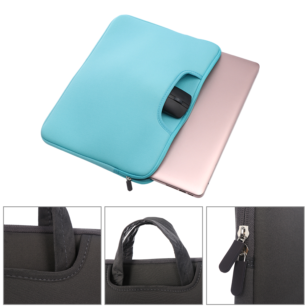 Image 3 - 11 13 14 15 15.6 inch Laptop Bag Computer Sleeve Case Handbags Dual Zipper Shockproof Cover For Laptop MacBook Air Pro Retina-in Laptop Bags & Cases from Computer & Office