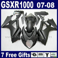 Custom OEM motorcycle fairings kit for SUZUKI GSXR 1000 2007 GSXR 1000 2008 GSXR1000 K7 07 08 matte black bodywork fairing parts