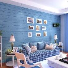 цена Blue wood Mediterranean vertical stripes wallpaper for walls 3d papier peint 3d wall murals wall paper papel de parede para sala онлайн в 2017 году