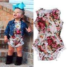 Fashion Toddler Newborn Baby Girls Summer Floral Bodysuit Jumpsuit Sunsuit Clothes