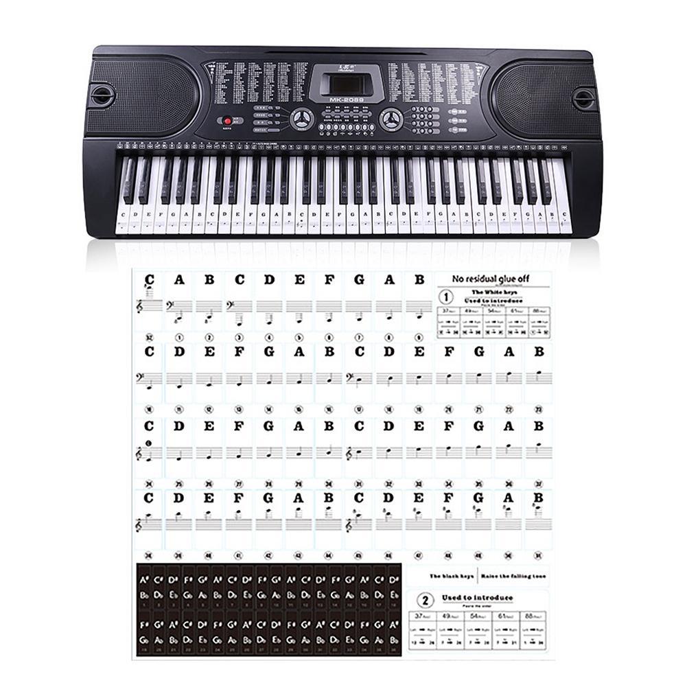 Transparan Piano Stiker 54 61 88 Kunci Keyboard Elektronik Kunci Mencegah Catatan Stiker Untuk Tombol Putih Piano Aliexpress