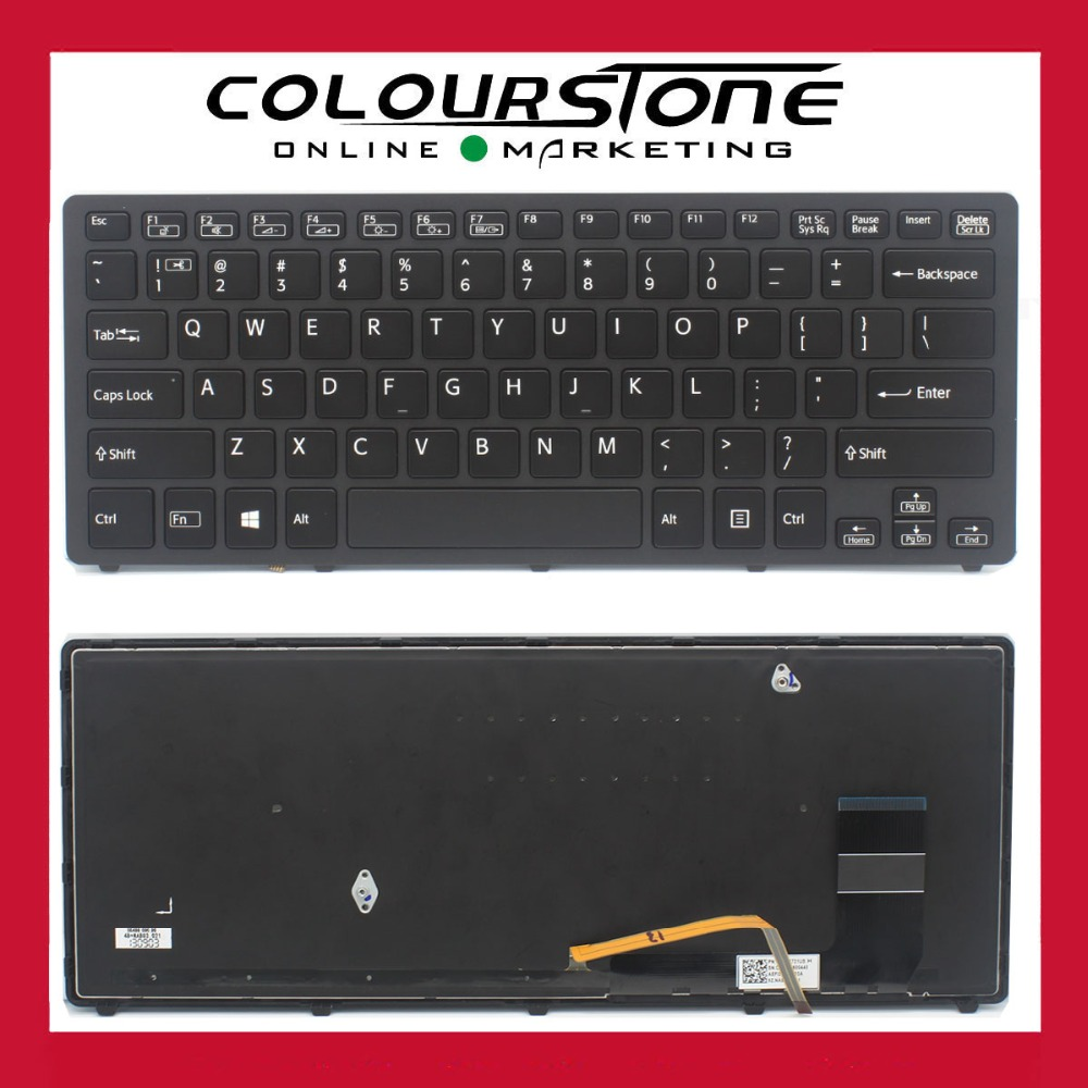 Original New US Black For Sony Vaio SVF14N SVF14N1J2R SVF14N1L2R SVF14N1N2E series laptop backlit keyboard 9Z.NABBQ.401 laptop keyboard for for sony svf14 black us united states without frame with backlit 9z nadbq 00l 149237091 aehk8 001103a