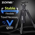 Профессиональный штатив Zomei Q555  алюминиевый гибкий портативный Трипод для камеры  Трипод с шаровой головкой для смартфонов DSLR