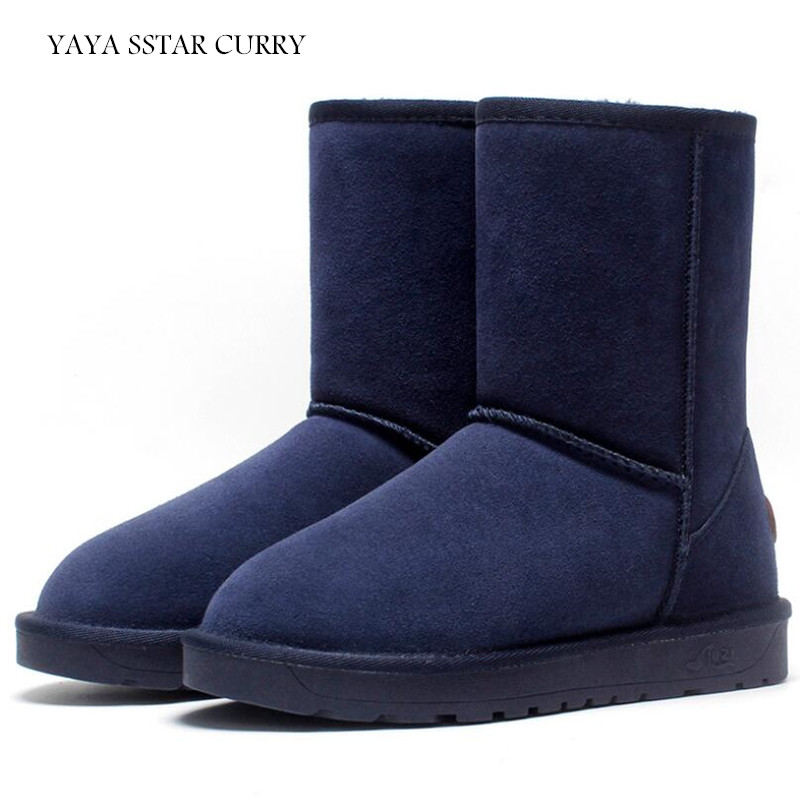 2018 Новый из натуральной кожи Удобная теплая обувь для мужчин и женщин туфли из хлопка пару моделей сапоги ug5825 в зимние сапоги Обувь для прог...