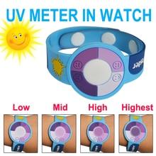 Изменение цвета ПВХ 15 шт./партия наружные мероприятия защита УФ часы со счетчиком Гейгера/УФ-счетчик
