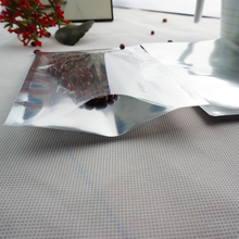 100pcs/lot 16*24cm Translucent plating aluminium bag-front clear back silvery mylar foil flat pouch Chocolate Packaging Sack