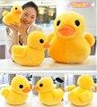 Gran pato amarillo juguetes de peluche, de peluche de pato muñeca para niños, algodón suave, 20 cm patos, envío gratis