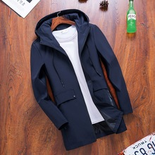Men's Jackets Spring Autumn Fashion Hooded Trench Coat Men Casual Jacke