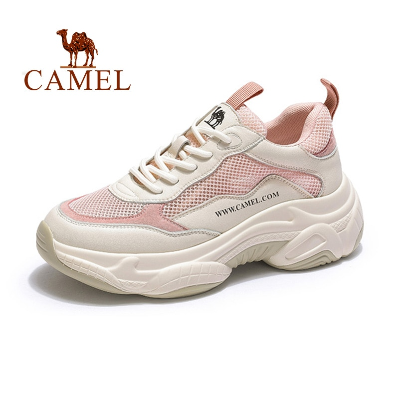 CAMEL Women's Sports Shoes 2019 New Spring Casual Shoes Women Genuine Leather Ins Fashion Shoes Female Shoes Women