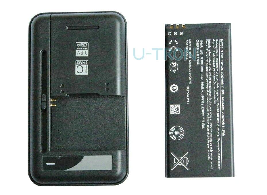 imágenes para 3000 mAh BV-T5E BVT5E BV T5E Batería de Repuesto + Cargador Universal Para Microsoft Lumia 950 RM-1106 RM-1104 RM-110 McLa