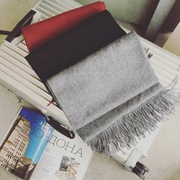 And Winter With A Little Pepper Pure Lamb Cashmere Scarf Wool Shawl Collar And Winter