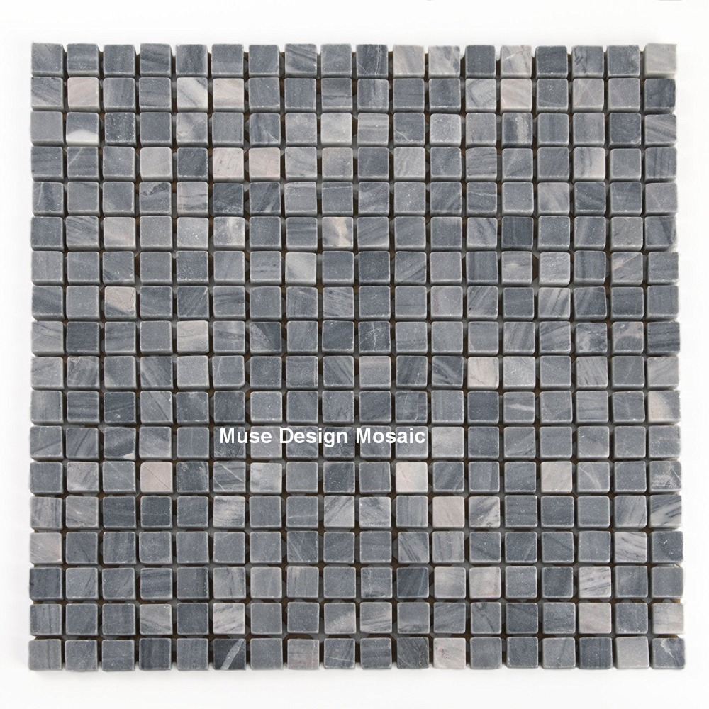 Us 249 99 Natural Grey Marble Stone Mosaic Tiles Wall Floor Tile Decoration For Kitchen Backsplash Shower Bathroom Nightclubs Cafe In