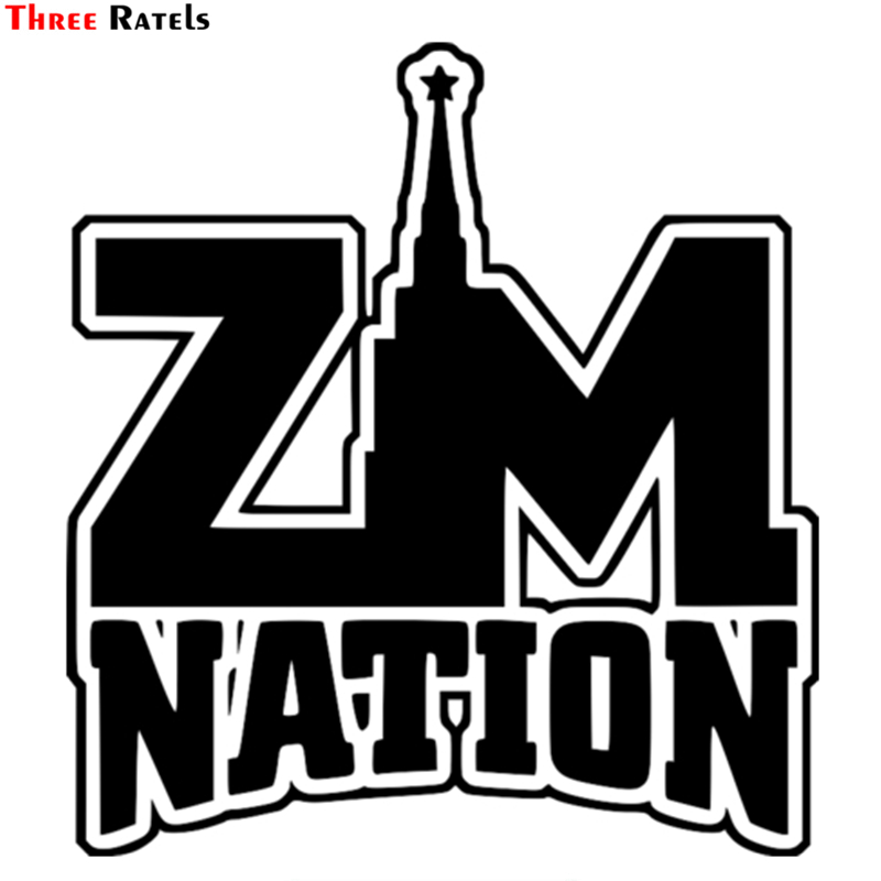 Three Ratels TZ-1100 16.2*15cm 1-4 Pieces Car Sticker Zm Nation Zm-nation Funny Car Stickers Auto Decals