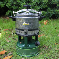 3L Aluminum Pressure Cooker Pot Explosion Proof Outdoor Camping Pot High Elevation Pressure Cooker Cookware