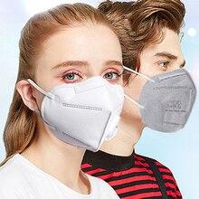 1 шт., противопылевая маска KN95, мягкая маска для рта, PM2.5, дымка, фильтр, марля, углеродная пыль, ветрозащитная, против гриппа, медицинские маски, Particules Earloop