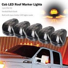 5Pcs Rauch Auto Dach Cab Laufende Lichter 9 LEDs Bernstein Dome Licht Für 1999-2016 Ford E150 E450 f250 F750 Super Duty Pickup Lkw
