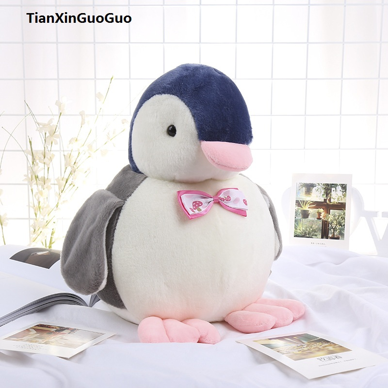 cartoon penguin plush toy large 30cm lovely bowtie penguin soft doll throw pillow toy birthday gift h2328 cute cartoon ladybird plush toy doll soft throw pillow toy birthday gift h2813