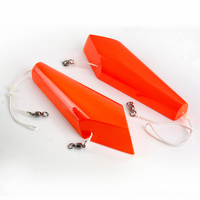 2PCS Set 24 CM Red Left Right Wood Sea Fishing Boat Trolling Lure Tackle Accessories