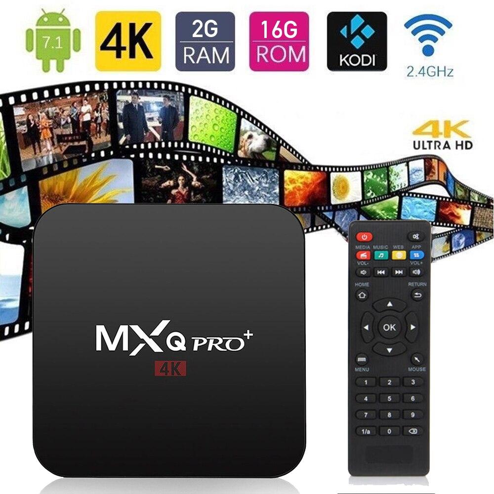 2018 new MXQ Pro 4k Smart TV BOX Quad Core 1G+8G 3D MXQ 4K Set Top Box Android 6.0 TV Box S905W Media Player MXQ Pro TV BOX