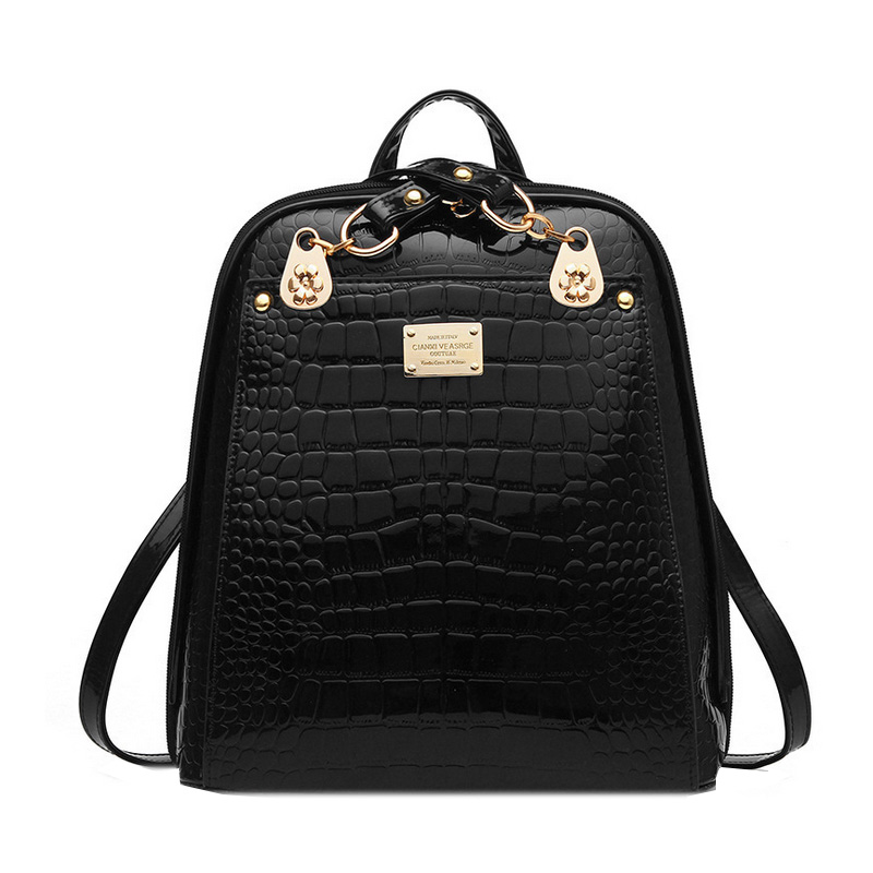 Homeda New PU Leather Business Style Women Backpack High Quality Solid Classic School Bags Mochila Escolar Feminina Z0042 women backpack high quality pu leather mochila escolar school bags for teenagers girls top handle backpack herald fashion