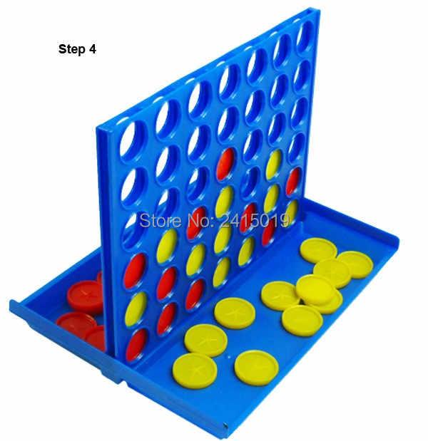 4-in-a-row M tamanho quatro em uma linha de linha de conexão placa de bingo jogo interativo inteligência crianças crianças festa divertida viagem para casa.