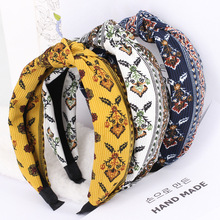 3pcs/lot Flower Print Hair Bands For Girls Floral National Style Elastic Headbands Twisted Turban Hair Accessories For Women
