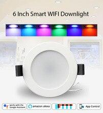 Home Automation 6 pollici WiFi Lampadina Da Incasso A Led 14 w Controllo Vocale da Alexa Echo Dot Spot Mostra Google Casa assistente di IFTTT