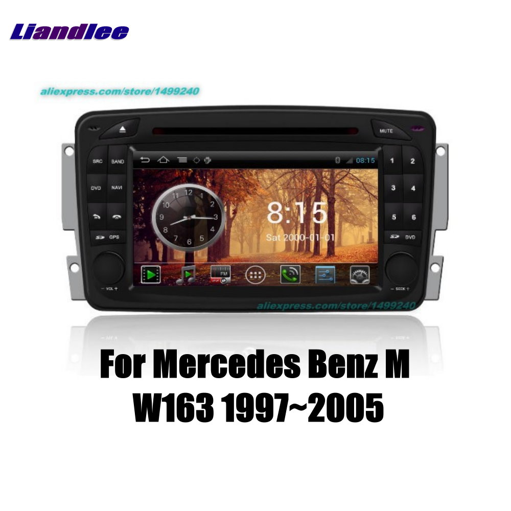 Liandlee 2 din Car Android For Mercedes Benz M W163 1997~2005 Radio GPS Maps Navigation player HD Screen BT WIFI Media System