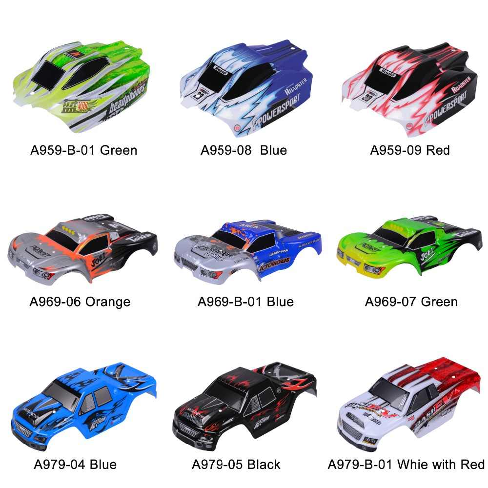 Wltoys RC Auto Onderdelen A959 Carrosserie 1:18 Auto Shell A969/A979 Auto shell PVC explosie-proofhousing body shell Skin Cover