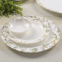 Bone China western food steak plate/ The ceramic plates with flower design/ Domestic for private use cake plate