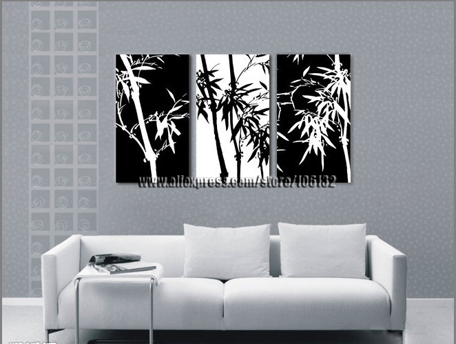 Bamboo Wall Art black bamboo wall art promotion-shop for promotional black bamboo