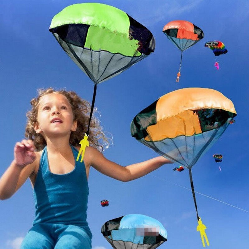 1 Pcs Random Color Hand Throwing Kids Mini Play Parachute Toy Soldier Outdoor Sports Children's Educational Toys Free Shipping