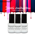 Ibcccndc 3pcs/lot UV LED Nail Gel Polish 7ml Semi Permanent Gel Varnishes Gelpolish 60 Colors Soak Off Top Base Coat Primer Glue