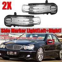 Feu de position latéral de voiture porte aile rétroviseur clignotant indicateur lampe de lumière latérale pour Mercedes pour Benz W203 4 porte 2004-2007