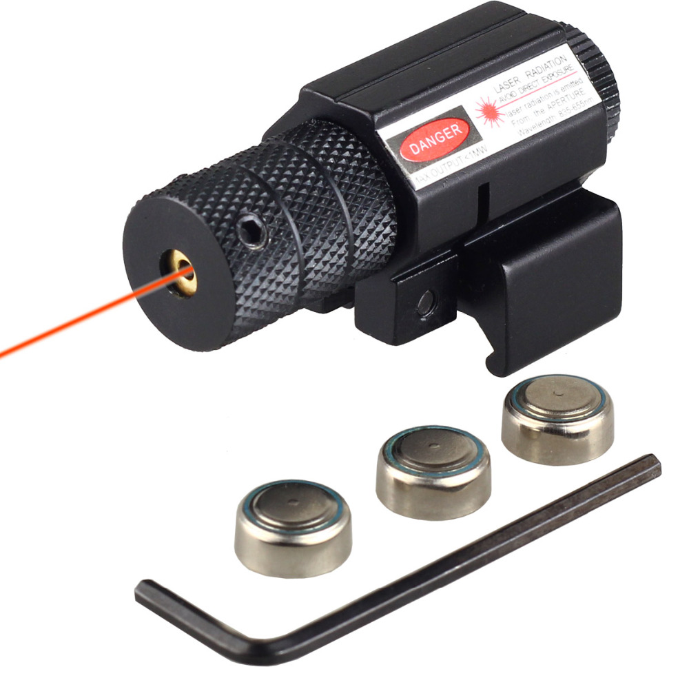 Red Laser For 20mm Weaver Picatinny Mount Fits Most Tactical Firearms with or without Rail Slots