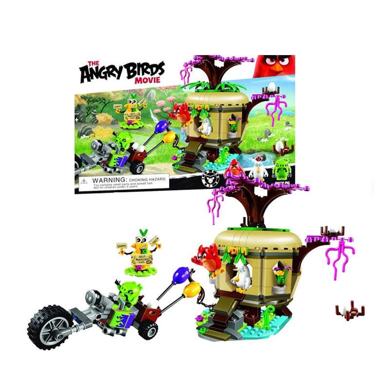 Lepin 75821 Pogo Bela 10505 Birds Piggy Cars Escape Models Building Blocks Bricks Compatible Legoe Toys lepin 75826 pogo bela 10510 879pcs birds king pigs castle models building blocks bricks comaptible legoe toys gift for children