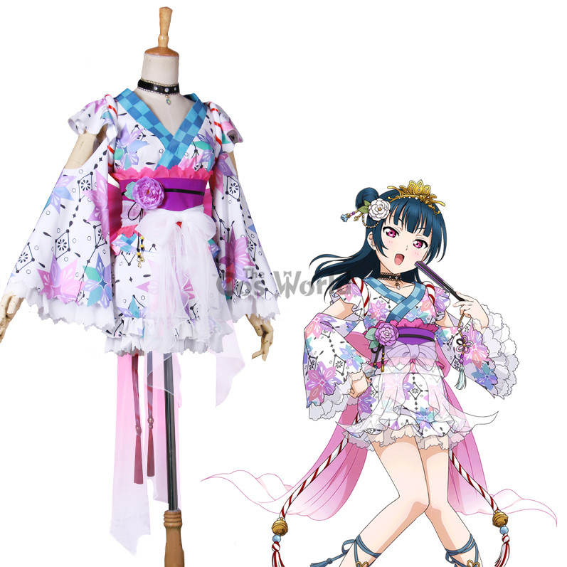 LoveLive Sunshine Aqours Tsushima Yoshiko Christmas Dress Cosplay Costumes