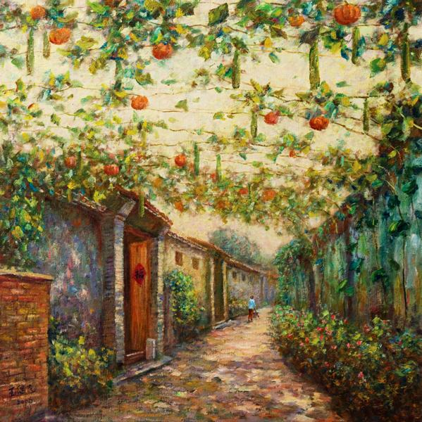 Amazing Us 5 3 41 Off Free Shipping Mediterranean Sea Vegetable Garden Shed Oil Painting Canvas Painting Prints On Canvas Wall Art Decoration Picture In Interior Design Ideas Gentotryabchikinfo