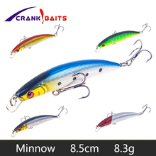 CRANK BAITS 1pcs Fishing Lures 3D Eyes Floating Laser Minnow Hard Aritificial Wobblers Crankbait Plastic Baits Pesca Isca YB176
