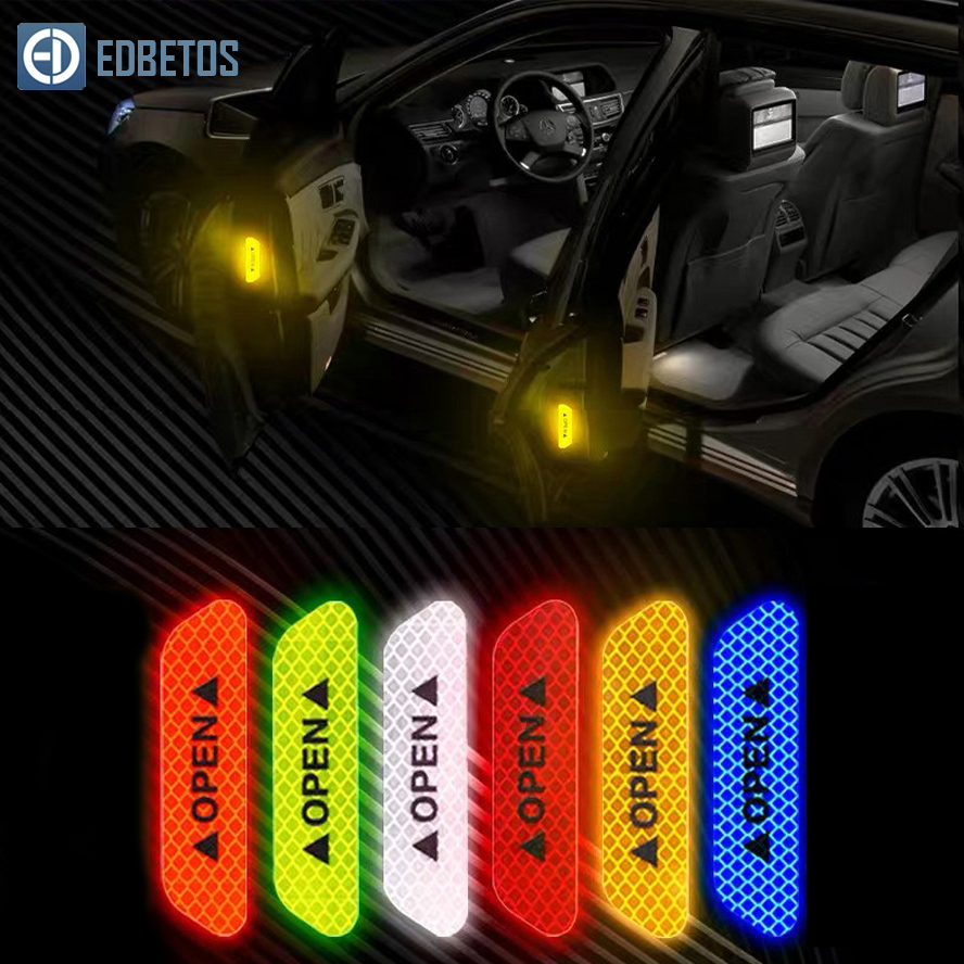 Image 4 - Car Body Safety Reflective Warning Stickers for Car Door Wheel Eyebrow Rear Bumper Review Mirror Helmet Decal Pegatinas Aksesuar-in Car Stickers from Automobiles & Motorcycles
