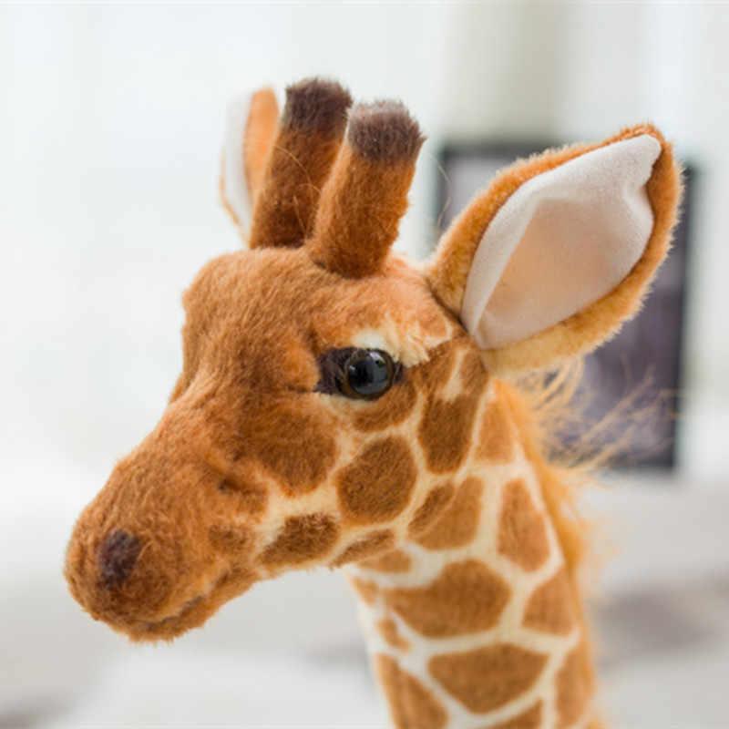 Плюшевые игрушки 80 см 120 огромная настоящая жизнь Жираф лошадь Милая домашняя подушка игрушки мягкие животные куклы мягкие куклы плюшевые детские игрушки Рождество