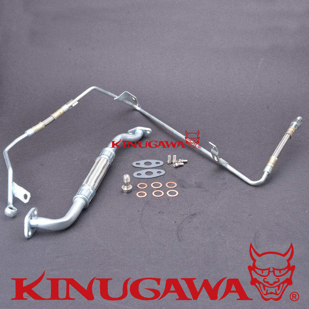 Kinugawa Turbo Oil Feed and Return Pipe Kit for VW PASSAT / for AUDI A4 1.8L gplus silicone intercooler turbo pipe hose kit for audi a4 vw passat b5 1 8t 94 05
