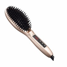 Discount! Perfect Style LED Display110-220V Ions Comb Ionic Steam Iron Hair Straightener Straightening Iron Brush