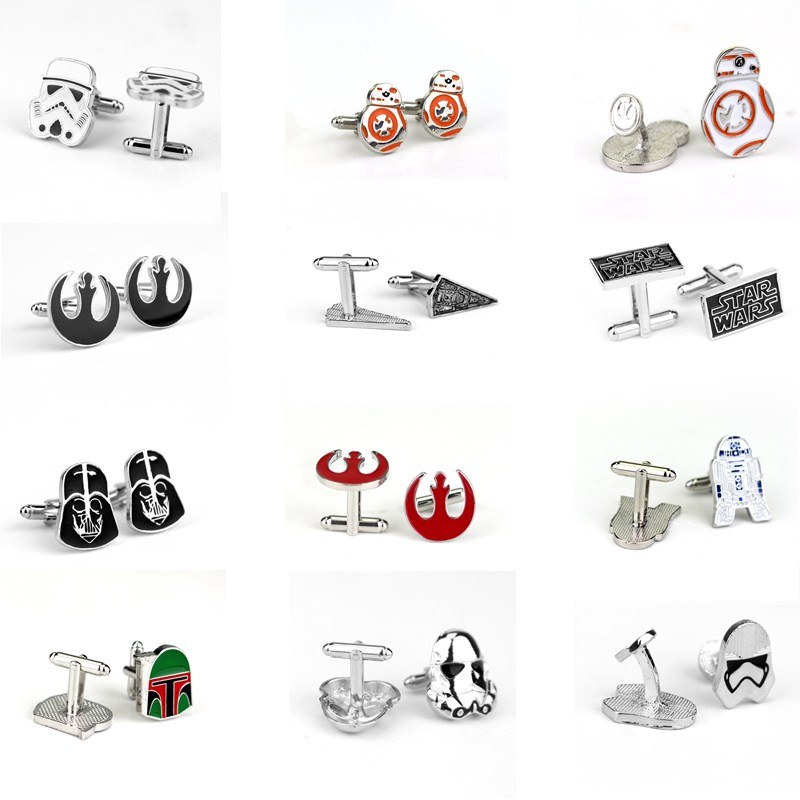 High Quality New Fashion Cufflinks Star Wars Charms Cufflinks For Men Jewelry