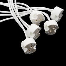 5/ 10pcs LED נורות מחזיק בסיס Socket MR11 MR16 GU5.3 G4 חוט מחבר הלוגן