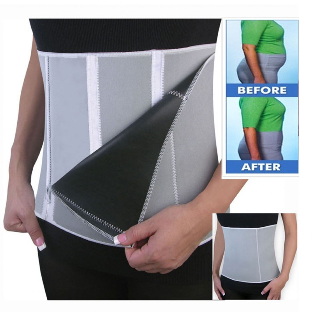 цена на Adjustable Sauna Belt Healthy Slimming Belt Fat Burner Lose Weight Shaper Body Burn Cellulite For Men Women With 5 Zippers Wrap