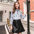 European British style women street skirt quality fashion solid black color zippers locomotive leather mini A line skirts N2